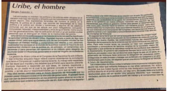 Sergio Fajardo sobre Álvaro Uribe Vélez 2 parte