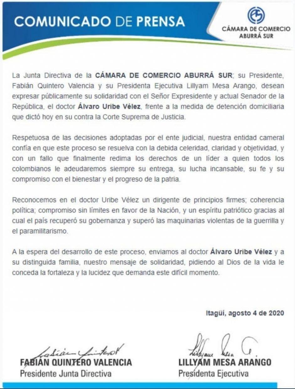 CÁMARA DE COMERCIO ABURRÁ SUR
