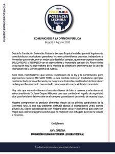 13 APOYOS GREMIOS - FUNDACIÓN COLOMBIA POTENCIA LECHERA TROPICAL