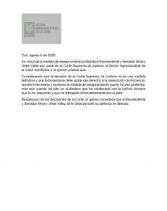 27 APOYOS GREMIOS - SECTOR AGROINDUSTRIAL DE LA CAÑA
