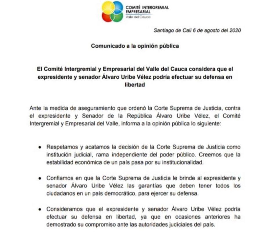 COMITÉ EMPRESARIAL INTERGREMIAL VALLE DEL CAUCA