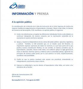 38 APOYOS GREMIOS - CÁMARA DE COMERCIO DE BARRANQUILLA