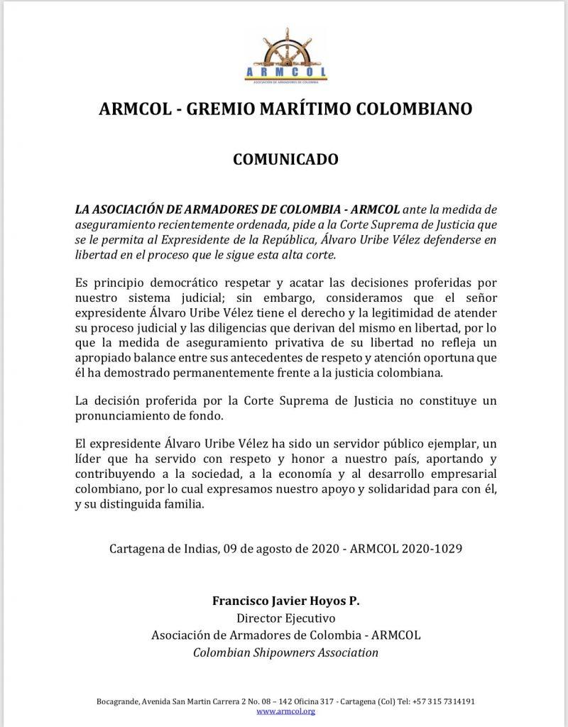 40 APOYOS GREMIOS - GREMIO MARÍTIMO COLOMBIANO