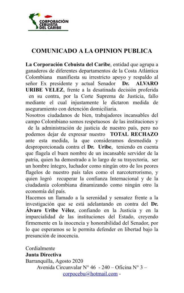 7 APOYOS GREMIOS - CORPORACIÓN CEBUISTA DEL CARIBE