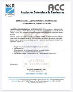 8 APOYOS GREMIOS - ASOCIACIÓN COLOMBIANA DE CAMIONEROS