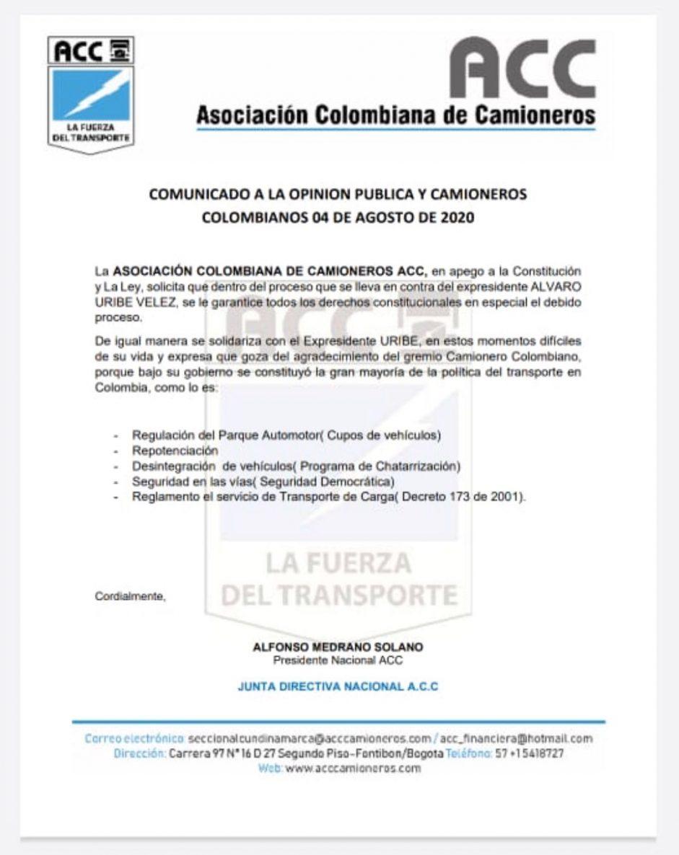ASOCIACIÓN COLOMBIANA DE CAMIONEROS