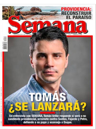 Entrevista Tomás Uribe en Revista Semana
