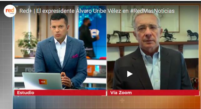 Entrevista Álvaro Uribe, Red Más TV Reforma tributaria 26 abril, 2021