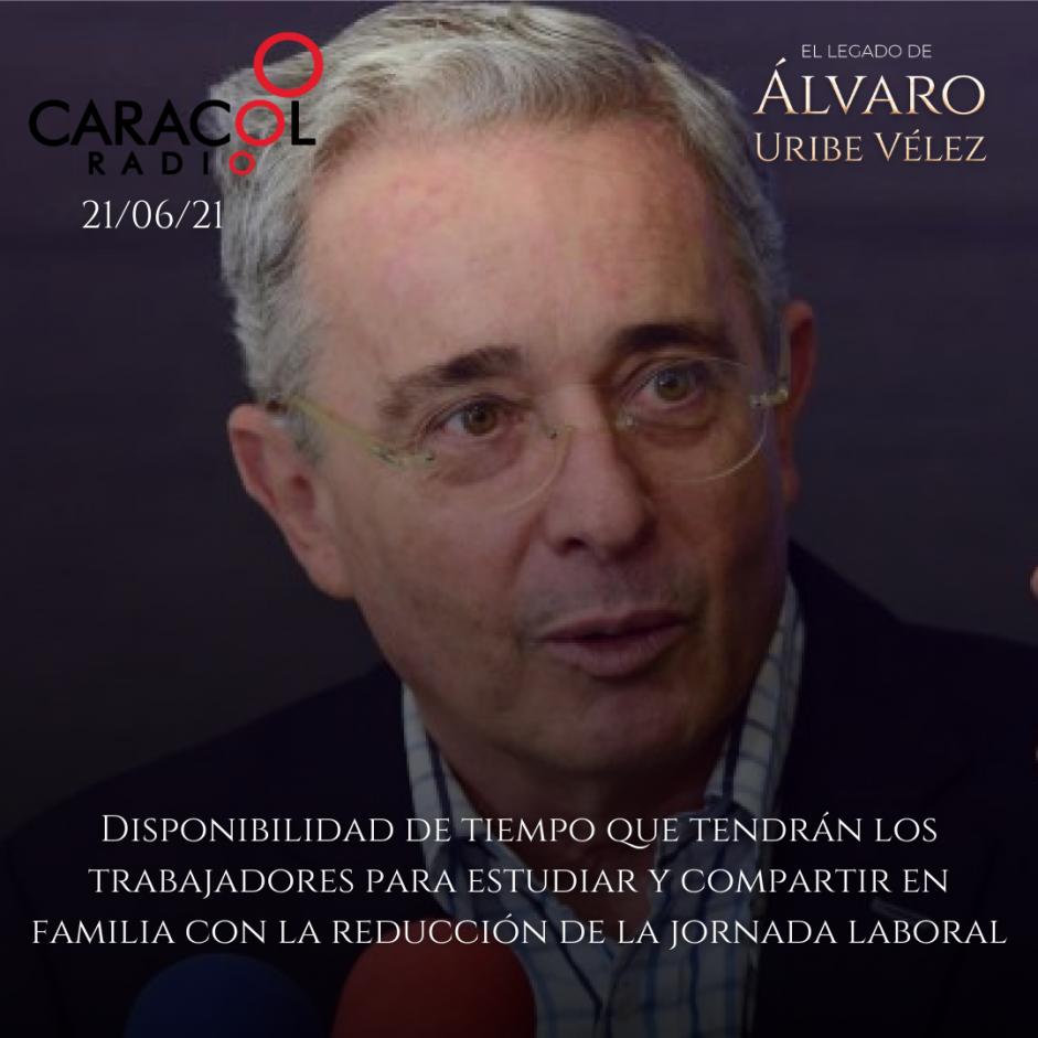 Entrevista Caracol Radio sobre reducción de Jornada Laboral 21/06/21