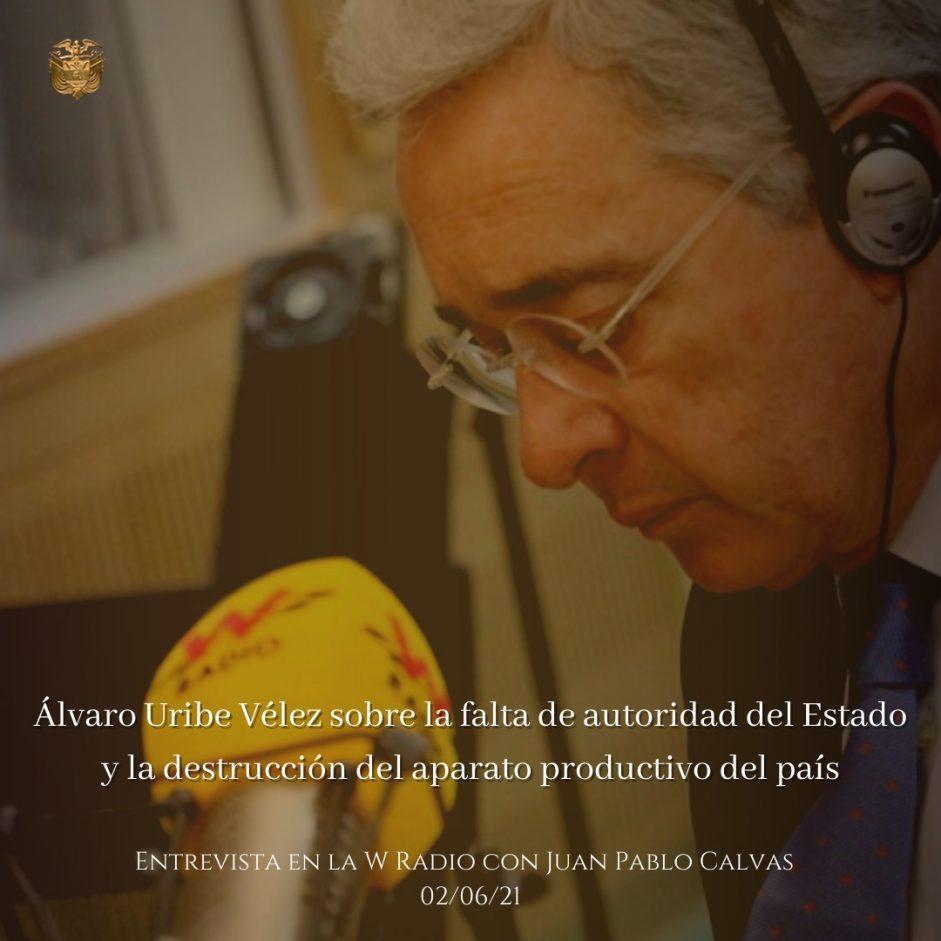 Entrevista La W Radio 02/06/2021