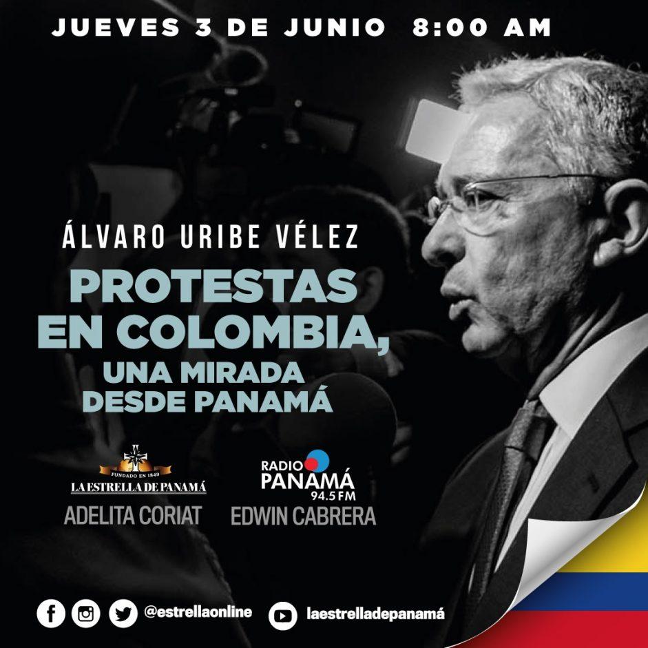 Entrevista diario La Estrella y Radio Panamá. «Yo creo mucho en las libertades, en el emprendimiento social y en la seguridad»: Álvaro Uribe
