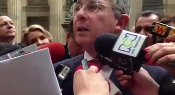 VIDEO Respuesta del expresidente Uribe sobre el fallo de despojo de La Haya