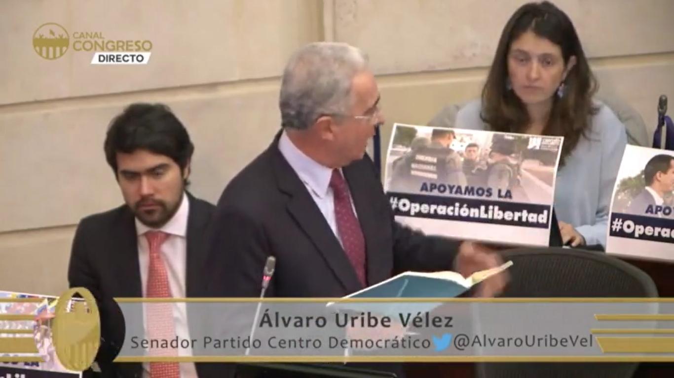 Réplica a los senadores Gustavo Bolívar y Wilson Arias