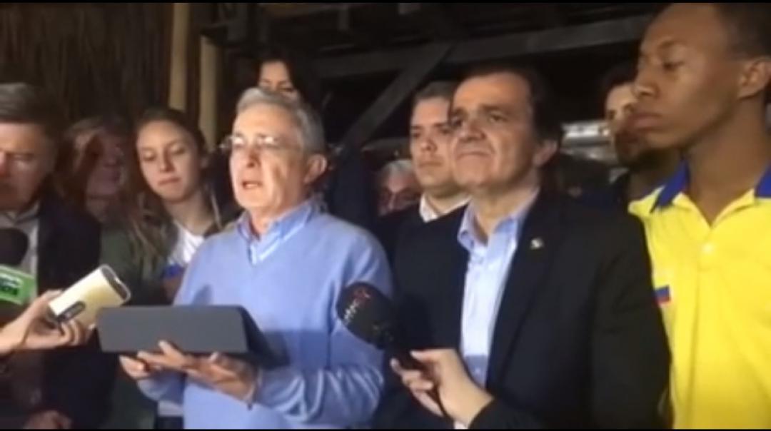 Frente al resultado del Plebiscito: Expresidente Álvaro Uribe Vélez