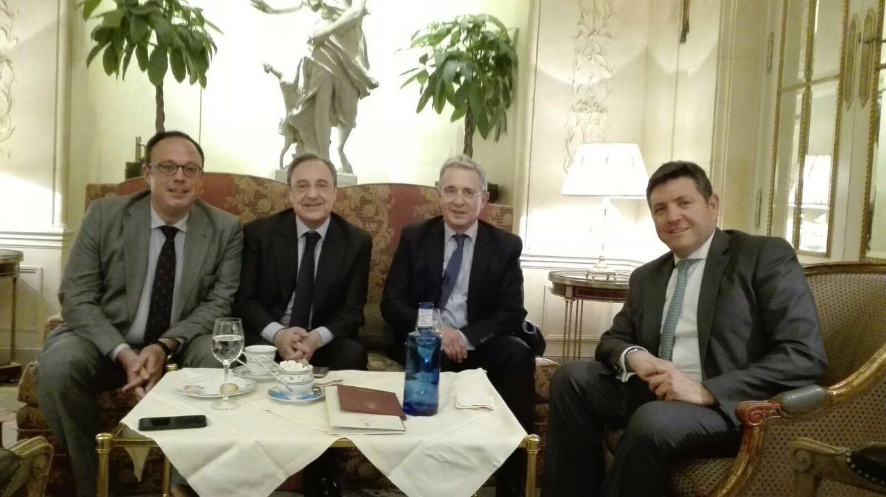 Expresidente Álvaro Uribe se reunió con Florentino Pérez